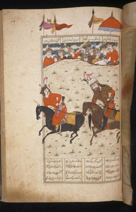 Rustam overturns Chingish by seizing horse tail